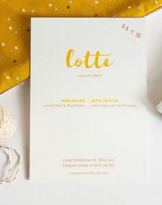 Geboortekaart koper met warm geel (c)Alsjeblief.be