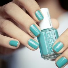 naughty nautical by essie. on my toes now. i love it! such a cool, summer color with a subtle shimmer.