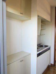 下駄箱とキッチン|賃貸 1K メゾンド・フルール byのぐち不動産