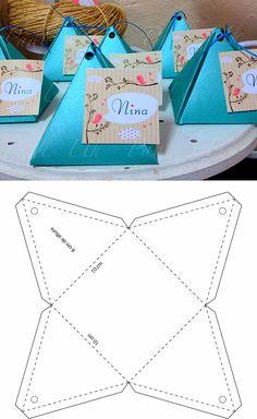 Discover thousands of images about Descarg gratis el molde para hacer esta cajita en mi sitio web Diy Gift Box, Diy Box, Diy Gifts, Wrap Gifts, Paper Crafts Origami, Diy Paper, Paper Box Template, Box Template Printable, Tag Templates