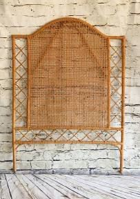 SHIPPING NOT FREE! Twin Bed Vintage Rattan Headboard/Wall Art | Google Shopping Eclectic Headboards, Vintage Headboards, Bamboo Headboard, Twin Headboard, Wicker Table, Wicker Chairs, Rattan Furniture, Wicker Peacock Chair, Station To Station