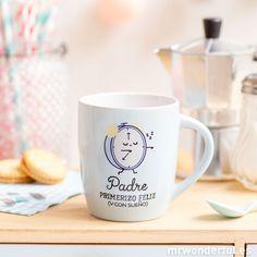 """Taza """"Padre primerizo feliz (y con sueño)"""" #mug #taza #deco #mrwonderfulshop #dad"""