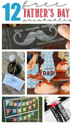 12 FREE Father's Day Printables to help you create the perfect Father's Day.