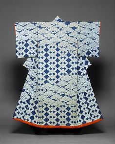 Furisode (Edo period) Metropolitan Museum of Art (no.1975-37) Shibori on silk