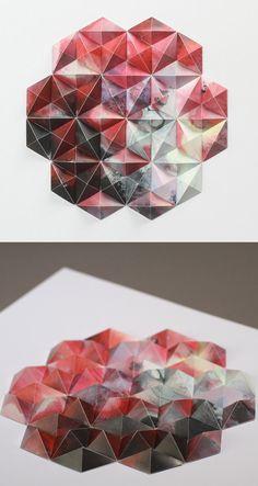 3D Geometric Sculpture / Matthew Shlian x Michael Cina
