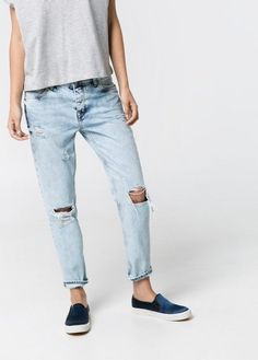 Pin for Later: The 7 Denim Trends You'll Live In All Fall  Mango Boyfriend Nancy Jeans ($80)