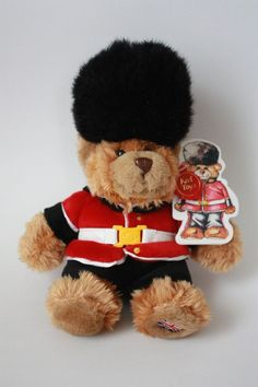 Keel Toys British Guardsman Stuffed Teddy Bear 9.5 inches W/ Original Tags 2005 #KeelToys