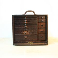 Antique Dental Tool Chest Box / Industrial Decor. $275.00, via Etsy.