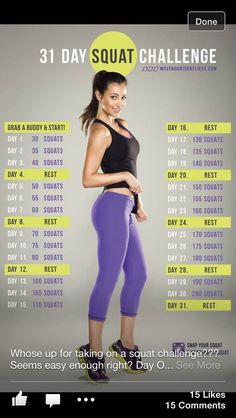 Squat challenge- starting this TODAY!