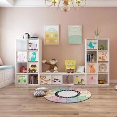 Great way to organize the playroom or bedroom. All of those holiday and birthday toys need to go somewhere. Embroidered Toy Storage Cube – K&J Home Goods Toy Storage Cubes, Toy Storage Shelves, Cube Storage Unit, Kids Room Organization, Nursery Storage, Playroom Organization, Kids Storage, Bedroom Storage, Creative Toy Storage