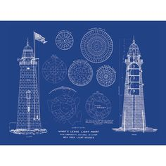 #Lighthouse blueprint print    http://www.roanokemyhomesweethome.com