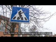 People Obey Silly Walk Sign - Neatorama