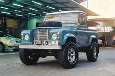 Land rover azulejo
