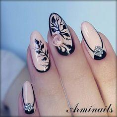 Cute nail designs for summer 2018 Diy Nails, Cute Nails, Pretty Nails, Fabulous Nails, Gorgeous Nails, Nail Art Techniques, Diy Nail Designs, Autumn Nails, Manicure E Pedicure
