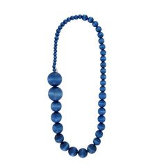 aarikka Saaga Blue Necklace From casual to formal, the aarikka Saaga Necklace will tribute pleasantly to your style. Featuring Aarikka's signature wooden beads from compact to hefty, this necklace is easy to style with its charm. Blue Necklace, Beaded Necklace, Wooden Beads, Finland, Labradorite, Helmet, Elegant, Stuff To Buy, Color
