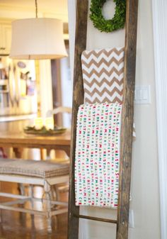 This is the easiest blanket ladder construction ever! Easy DIY project! Love of Home