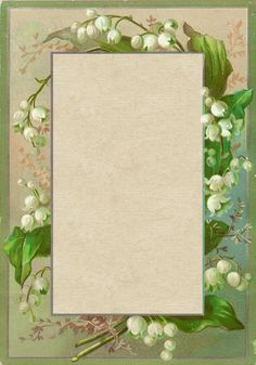 Viintage Lily-of-the-Valley Frame ~ Lilac & Lavender