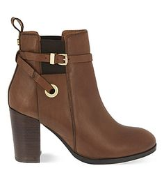 CARVELA Stacey leather heeled ankle boots in Tan