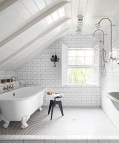 17 Magnificent Attic Bathroom Design Ideas For Your Private Haven Attic Room Ideas Slanted Walls Bedrooms Small Attic Room Ideas Reading Low Ceiling For Teens Diy Kids Conversions Modern Men For Boys Decor Theatres For Girls Wet Rooms, Trendy Bathroom, Bathroom Makeover, Small Bathroom, Modern Bathroom, Small Attic Room, Dream Bathroom, Bathroom Design, Tile Bathroom