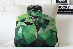 Green Hulk Pillow Cover