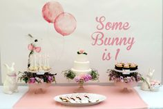 """""""Some Bunny is One"""" themed party"""