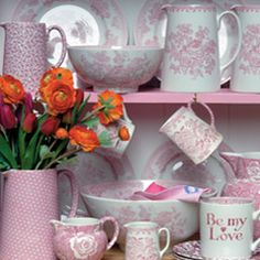 Buy Pink Asiatic Pheasants Online From The Burleigh Ware Shop