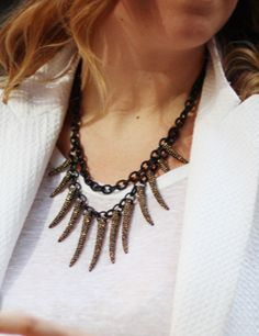 Sequin NYC statement necklace