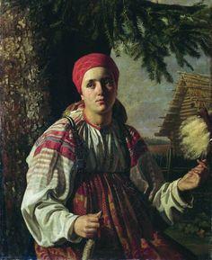 Бодри Карл-Фридрих Петрович (1812-1894) пряха
