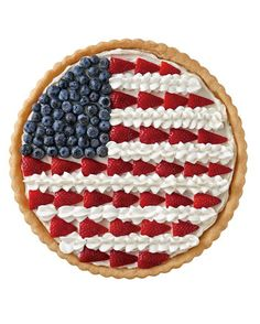 4th of july cookie pizza