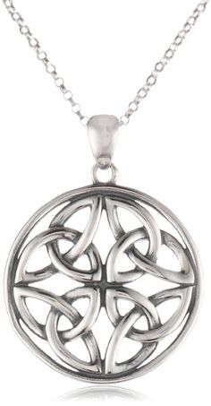 Celtic Knot Round Pendant Necklace, 18""
