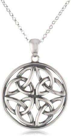 "Celtic Knot Round Pendant Necklace, 18"""