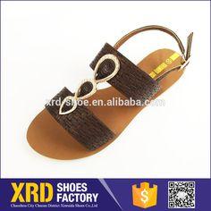 China sandal factory/pu leather sandal flat shoes /women sandal