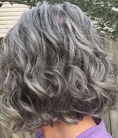 thick wavy curly natural grey hair i love the colour