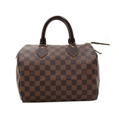 c0d805e2273b Louis Vuitton Speedy 25 Dark Brown Damier Canvas City Hand Bag - Hand-held  Louis