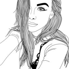 117 best coloring pages images on Pinterest   Girl drawings, Tumblr ...