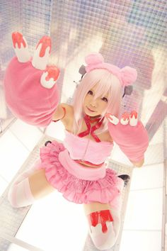 Gloomy Bear Super Sonico Cosplay!
