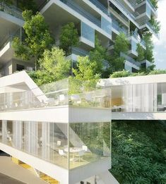 Garden towers in vision of urban designs - at http://futuristicnews.com/natural-environment-in-high-density-housing/