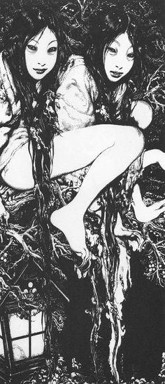 Expresionismo Erogeno Art And Illustration, Illustrations, Ero Guro, Japanese Horror, Japanese Art, Arte Horror, Horror Art, 5 Anime, Fine Art