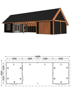 Family House Plans, Cottage House Plans, Cottage Homes, Carport Designs, Garage Design, Cabana, Roof Truss Design, Workshop Shed, Pool Shed