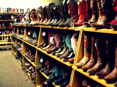 Cowboy boots at The Wrangler in Cheyenne, WY