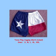 Texas Flag Nylon Jogging Shorts, Adult