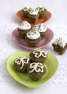 Gluten free Matcha Green Tea Pistachio Muffins Recipe | FamilyFreshCooking.com © MarlaMeridith.com