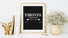 Toronto Print toronto wall art city wall art by SnaptureThis