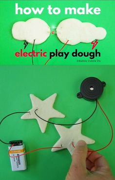 Learn about circuits by making electric play dough! This is a wonderful classroom or at-home activity featuring electricity. Creative Activities For Kids, Science For Kids, Stem Activities, Creative Kids, Stem Projects, Science Projects, Projects For Kids, Crafts For Kids, Science Crafts