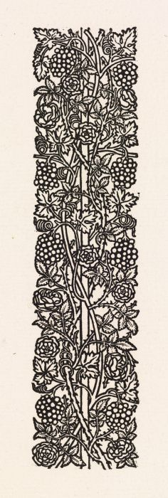 Wood Engraving - Love is Enough - This design was intended for use with William Morris' metrical romance 'Love is Enough', which dates from 1871-72. Morris designed & cut the pattern himself. - Birmingham Museums