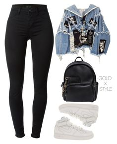 """""""FREE."""" by goldxstyle ❤ liked on Polyvore featuring J Brand, BLK DNM, NIKE, Dsquared2 and Gucci"""