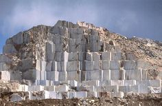 Marble Quarries of Carrara. Italy - where Michelangelo came to select the marble he would use.