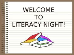 Need a presentation for your back to school literacy night?  Done!  $