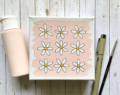 Original designs inspired by all things by ElyseBreanneDesign Small Canvas Paintings, Easy Canvas Art, Small Canvas Art, Mini Canvas Art, Cute Paintings, Simple Acrylic Paintings, Diy Canvas, Easy Canvas Painting, Portrait Paintings