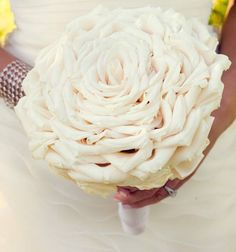 all white wedding bouquet..